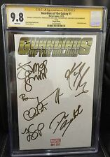 GUARDIANS OF THE GALAXY 1 CGC 9.8 SIGNED PRATT GILLAN SALDANA BAUTISTA GUNN POM
