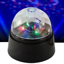 More details for crystal star ball flashing colour led spinning party disco light battery-power