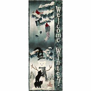 McKenna Ryan Making Winter Friends Wall Hanging Quilt Kit Hoffman Fabrics