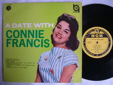 CONNIE FRANCIS A DATE WITH / EX+ CLEAN COPY 10INCH LAMINATED FLIP BACK COVER