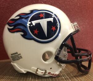 NFL Throwback Tennessee Titans Riddell Mini  Football Helmet & Facemask