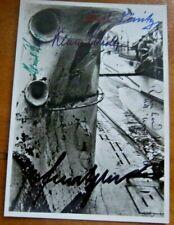 More details for v/rare - multi signed photograph including  karl donitz & reinhard hardegen - 1