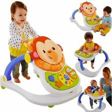Fisher Price 4 In 1 Baby Monkey Entertainer Activity Toy Play Walker Feeder Seat