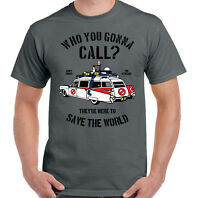 Ghostbusters T-Shirt Who You Gonna Call? Mens TEE TOP UNISEX