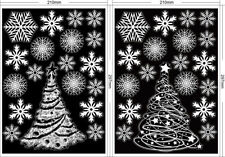 CHRISTMAS WHITE SNOWFLAKE WINDOW CLINGS STICKERS XMAS REUSABLE DECORATIONS DECAL