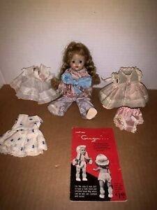 """Vintage 8"""" Ginger Doll by Cosmopolitan Dolls Clothing Price Guide Booklet Shoes"""