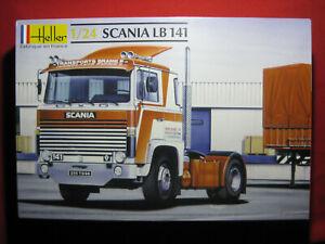 BIG Scania LB 141 Truck Rig Transport Delivery Cab Heller 1/24 Kit France 80770