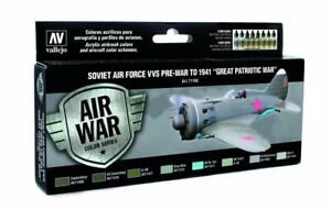 Soviet Russian Air Force Pre-War to 1941: 8 Airbrush Paints (Vallejo 71196)