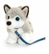 Cuddle Pets 30cm Husky on Lead Dog Kids Soft Animal Plush Stuffed Toy 3y Grey