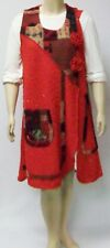 SARAH SANTOS,ITALY, SIZE LARGE,BRIGHT RED WOOL BLEND BOUCLE SLEEVELESS DRESS