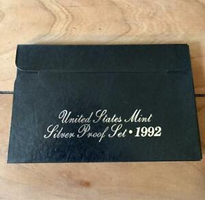 1992 US Mint Silver Proof Set COA