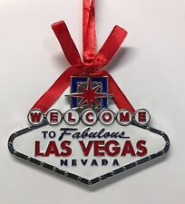 Las Vegas Welcome Sign Christmas Hanging Tree Ornament Happy Holidays