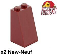 Lego - 2x slope brique pente inclinée 75 2x2x3 rouge foncé/dark red 3684c NEUF
