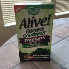 New Nature's Way Alive! Garden Goodness Women's Multi-Vitamin 60 Tabs  Exp 4/20
