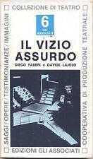 IL VIZIO ASSURDO DIEGO FABBRI DAVIDE LAJOLO EDIZIONI GLI ASSOCIATI 1976