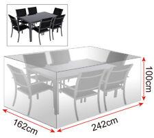 Gartenschutzhülle Abdeckhaube für Sitzgruppe Transparent 242x162x100 cm GZ1194tp