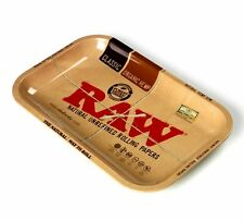Raw Rolling Tray Metal 1970's Style Collectors Tray 11x7 Inches