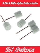 5 Stück 320er Nylon Polierer Polierscheibe für Dremel,Proxxon Multitool Zubehör