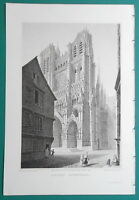 AMIENS CATHEDRAL France - 1821 Cpt. Batty Antique Print