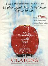 Publicité Advertising 1997  Parfum  CLARINS eau de soins dynamisante