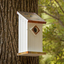Fancy Home Products Copper Top Blue Bird House with Predator Guard