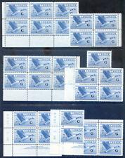 Canada 1952-3 7c Flying Goose overprinted G fine unmounted mint (2019/11/09#03)