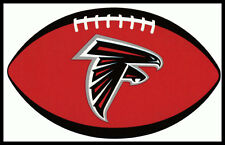ATLANTA FALCONS OVAL FOOTBALL NFL LICENSED TEAM LOGO INDOOR DECAL STICKER