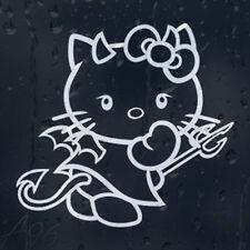 Hello Kitty Devil Cartoon Car Laptop Phone Decal  Vinyl Sticker Many Colors
