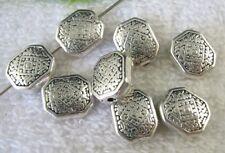 35pcs Tibetan Silver ornate square spacer beads FC8727
