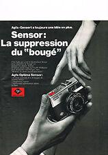 PUBLICITE ADVERTISING   1973   AGFA  appareil photo  OPTIMA SENSOR
