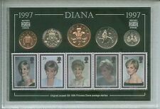 Lady Diana Spencer Princess of Wales Coin & Stamp Cased Collector Gift Set 1997