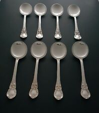 Set of 8 Sterling Silver Lunt Soup Spoons