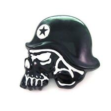 Head Skeleton Hip Hop Belt Buckle Famous Star Troop Military Soldier Black Skull