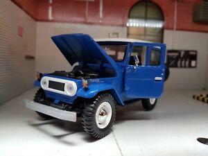 Model Toyota Land Cruiser FJ40 Blue Motormax Detailed Diecast 1:24 Scale New