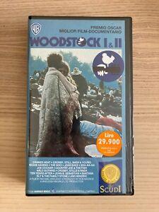 Woodstock I & II _ VHS _ 1989 Warner Italia NUOVA SIGILLATA RARA!