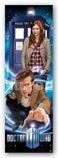 TV POSTER Doctor Who Doctor Matt Smith Amy Pond Karen Gillan TARDIS Vertical
