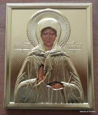Russian  wood Riza gold icon  St  Matrona