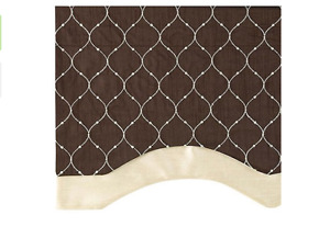 "StyleMaster Bleecker Embroidered Layered Valance With Lining 54"" by 17"""
