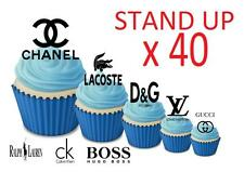 Fashion Logo STAND UP Cupcake Fairy Toppers Edible Rice Paper Decorations edible