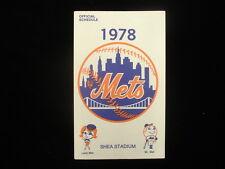 1978 New York Mets Baseball Schedule