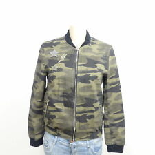 ZARA Jacke Blouson Jacket Camouflage Military Khaki Grün Gr. S 36