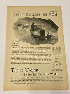 RARE TROJAN Original A4 Car Magazine Advert Mar 1st 1927 Car Advertising L1