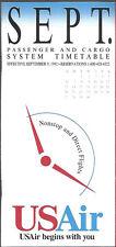 USAir system timetable 9/9/92 Buy 2 Get 1 Free