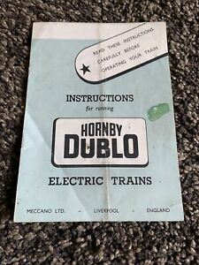 Hornby Dublo Instructions For Running Electric Trains