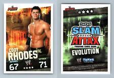 Cody Rhodes - WWE Slam Attax Evolution 2009 Topps TCG Card