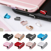 Metal Anti Dust Charger Dock Plug Stopper Cap Cover for iPhone X XR Max 8 7 Plus