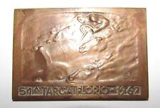 Targa Florio anno 1967 in bronzo targhetta
