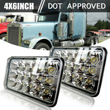 "For Freightliner Classic Truck 4""x6"" LED Headlight Clear Sealed Hi/Low Beam 2PCS"