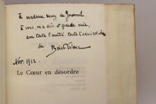 BINET-VALMER LE COEUR EN DÉSORDRE 1912 EO 1/25 HOLLANDE ENVOI SIGNÉ À COLETTE