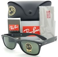 NEW Rayban New Wayfarer sunglasses RB2132 622 52 Matte Black G-15 2132 AUTHENTIC